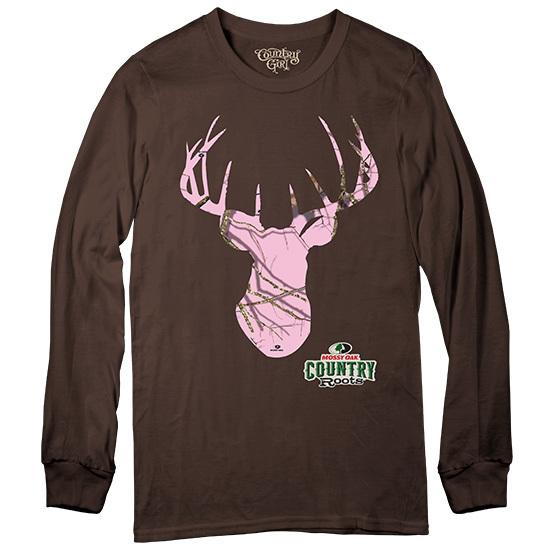 Country Girl® Mossy Oak® Deer Country Roots Long Sleeve - Long Sleeve Tee