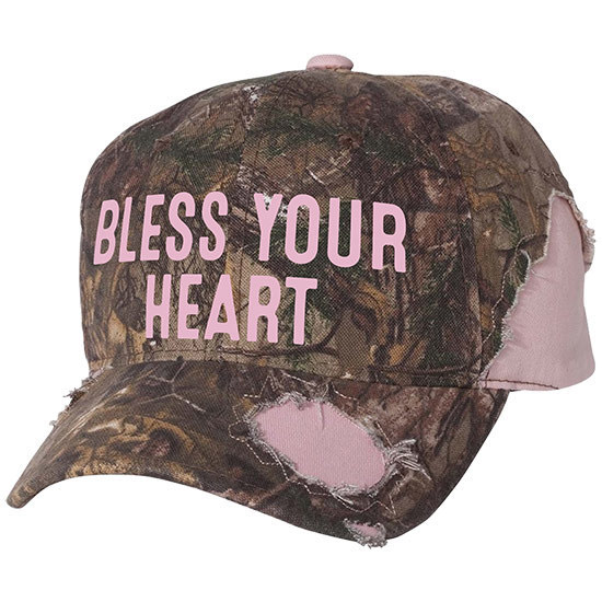 Country Girl® Bless Your Heart - Frayed Camo Cap