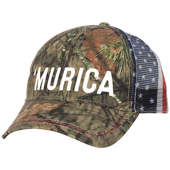 Country Girl® 'Murica Mossy Oak® Country - American Flag Trucker Hat
