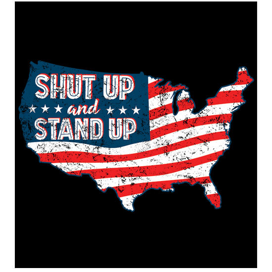 "Country Girl® Shut Up Stand Up - 5"" x 5.5"" Sticker"