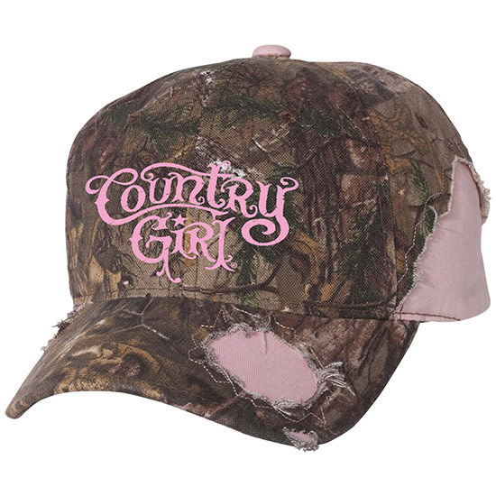 Country Girl® CG Logo - Frayed Camo Hat