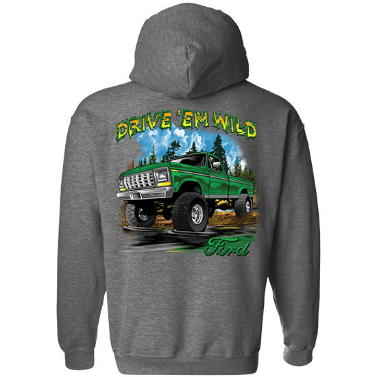 Country Boy® Drive 'em Wild - 1977 F350 Green - Relaxed Pullover Hoodie