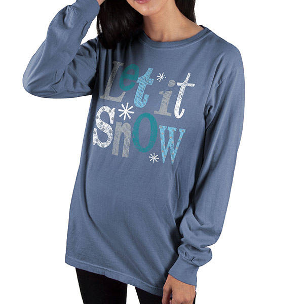 Country Girl® Comfort Colors Let It Snow - Long Sleeve Tee
