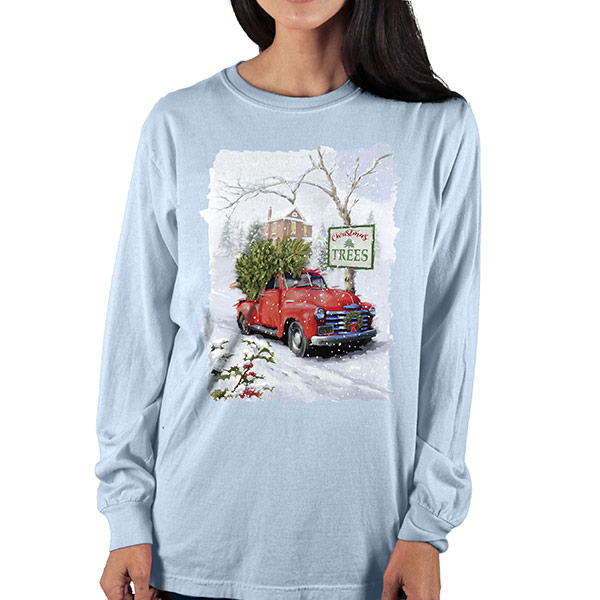 Country Girl® Comfort Colors Christmas Trees - Long Sleeve Tee