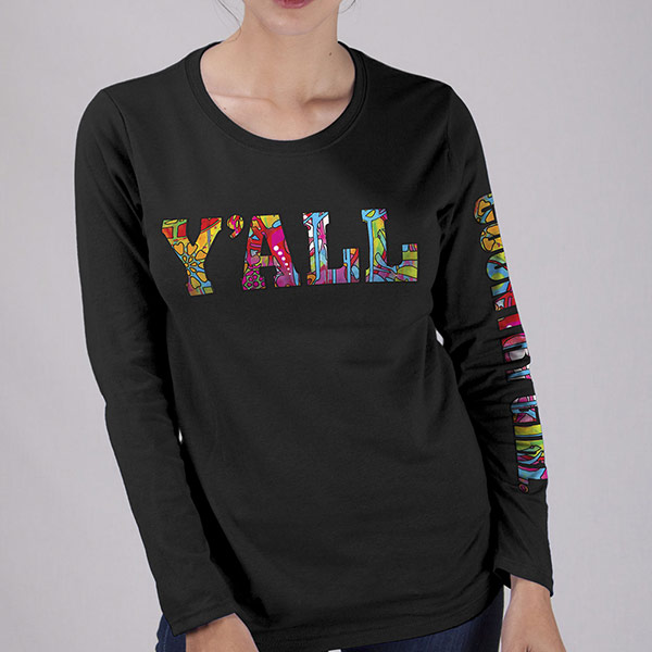 Country Girl® Colorful Y'all - Long Sleeve Tee