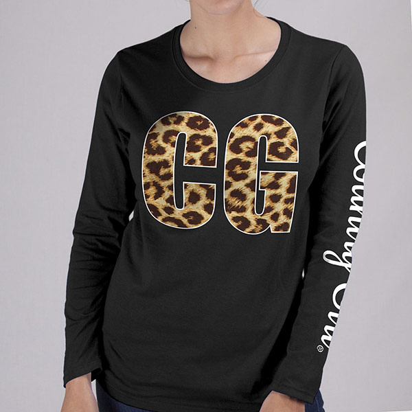Country Girl® Leopard CG - Long Sleeve Tee